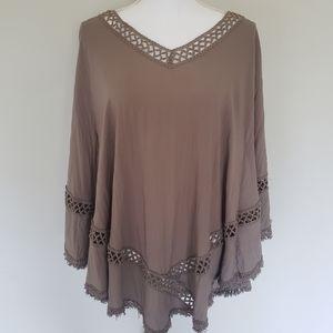 Moreno Boho Poncho Style Shirt